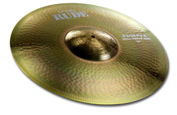 Paiste Rude Series 24 Inch Mega Power Ride Cymbal with Huge & Very Separated Bell Character (1125624)
