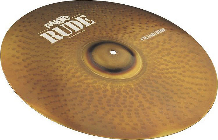 Paiste Rude Series 16-Inch Crash/Ride Cymbal with Raw & Full Sound Character (1128516)
