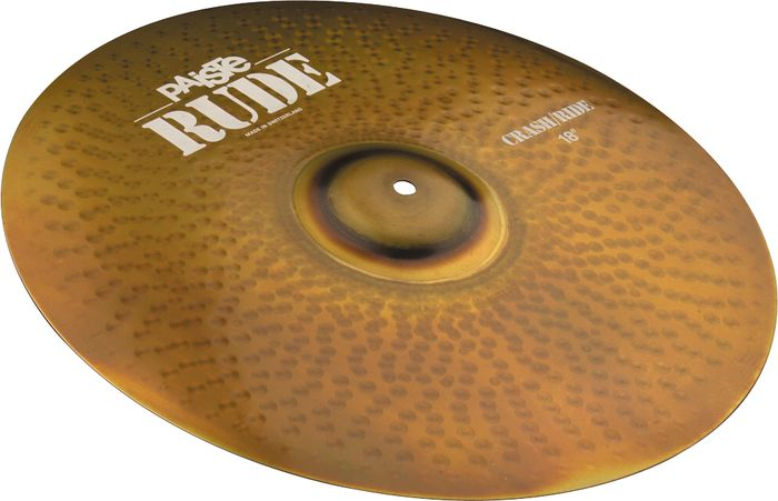 Paiste Rude Series 18-Inch Crash/Ride Cymbal with Strong & Balanced Stick Sound (1128518)
