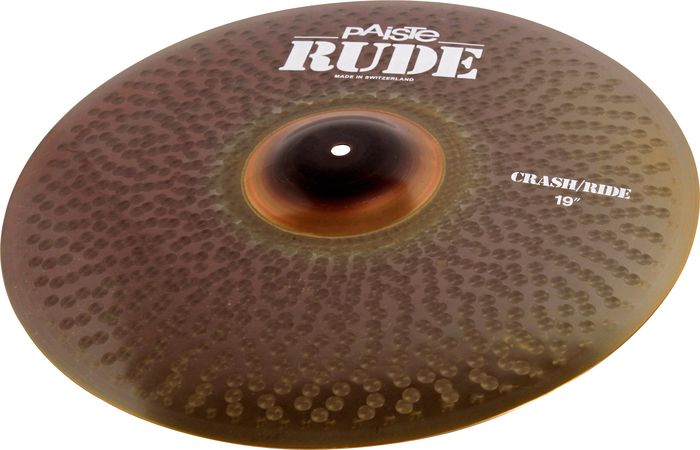 Paiste 19 Inch Rude Series Crash/Ride Cymbal with Long Sustain & Integrated Bell Character (1128519)