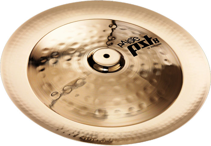paiste pst 8 18 reflector rock china cymbal with pronounced stick sound 1802518 used but like. Black Bedroom Furniture Sets. Home Design Ideas