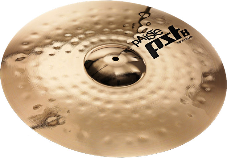 Paiste PST 8 Series 17 Inch Reflector Rock Crash Cymbal with Washy Stick  Sound (1802817)