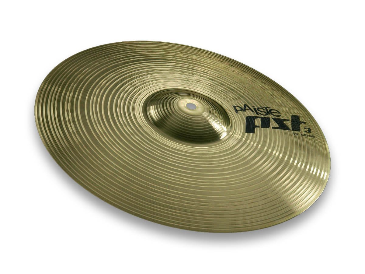 Paiste PST 3 Series 16 Inch Crash Cymbal with Focused Sound Character (631416)