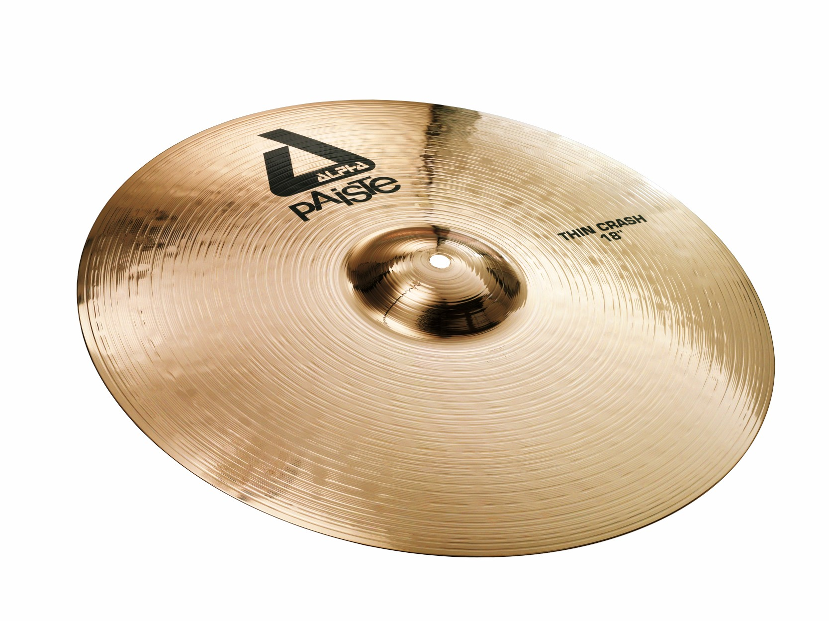 paiste alpha brilliant 18 inch thin crash cymbal with medium short sustain 881218 used but. Black Bedroom Furniture Sets. Home Design Ideas