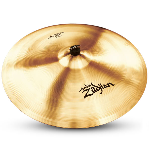 """Zildjian A0037 24"""" A Series Medium Ride Cast Bronze Cymbal with Large Bell Size & Mid-Range Pitch"""
