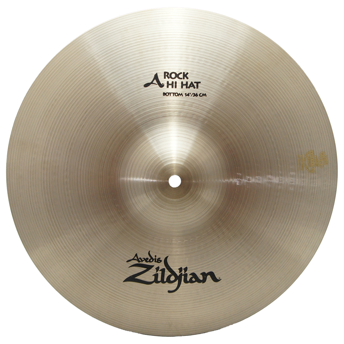 "Zildjian 14"" A Series Rock HiHats Bottom Drumset Cymbal with Med to High Pitch A0162"
