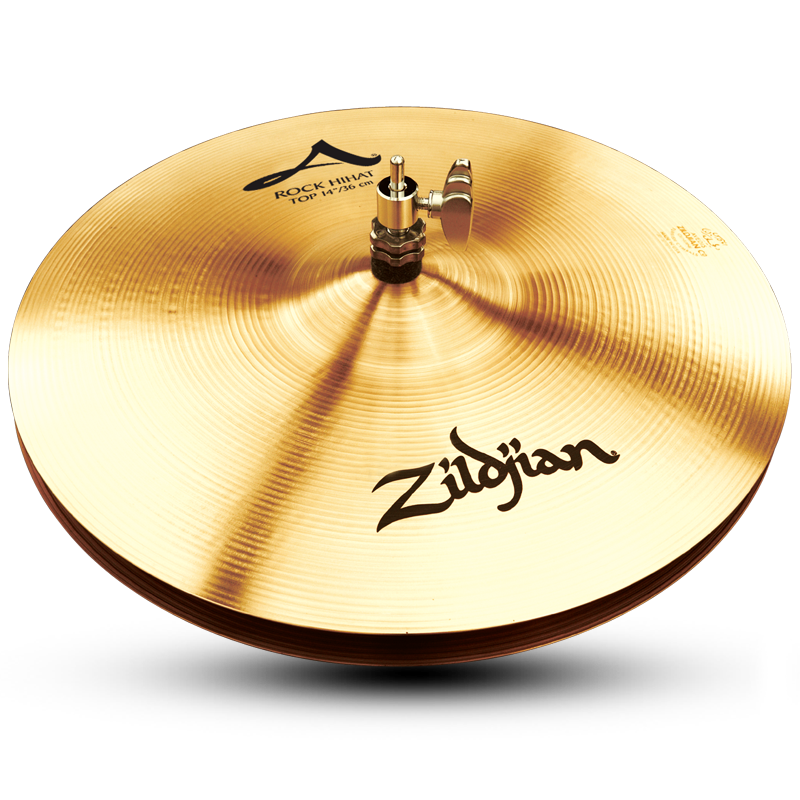 "Zildjian A0162 14"" A Series Rock HiHats Bottom Drumset Cymbal with Med to High Pitch"