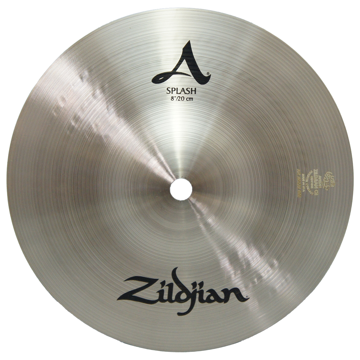 zildjian 8 a series splash drumset cymbal with crash type traditional finish a0210 used. Black Bedroom Furniture Sets. Home Design Ideas