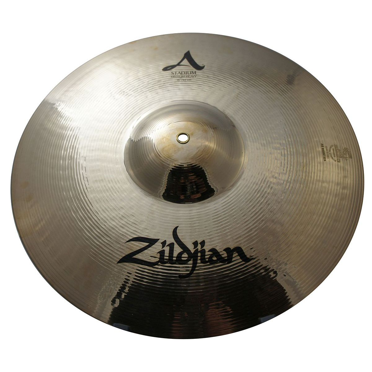 """Zildjian A0487 16"""" Stadium Series Medium Heavy Pair Orchestral Cymbals with Small Bell Size"""