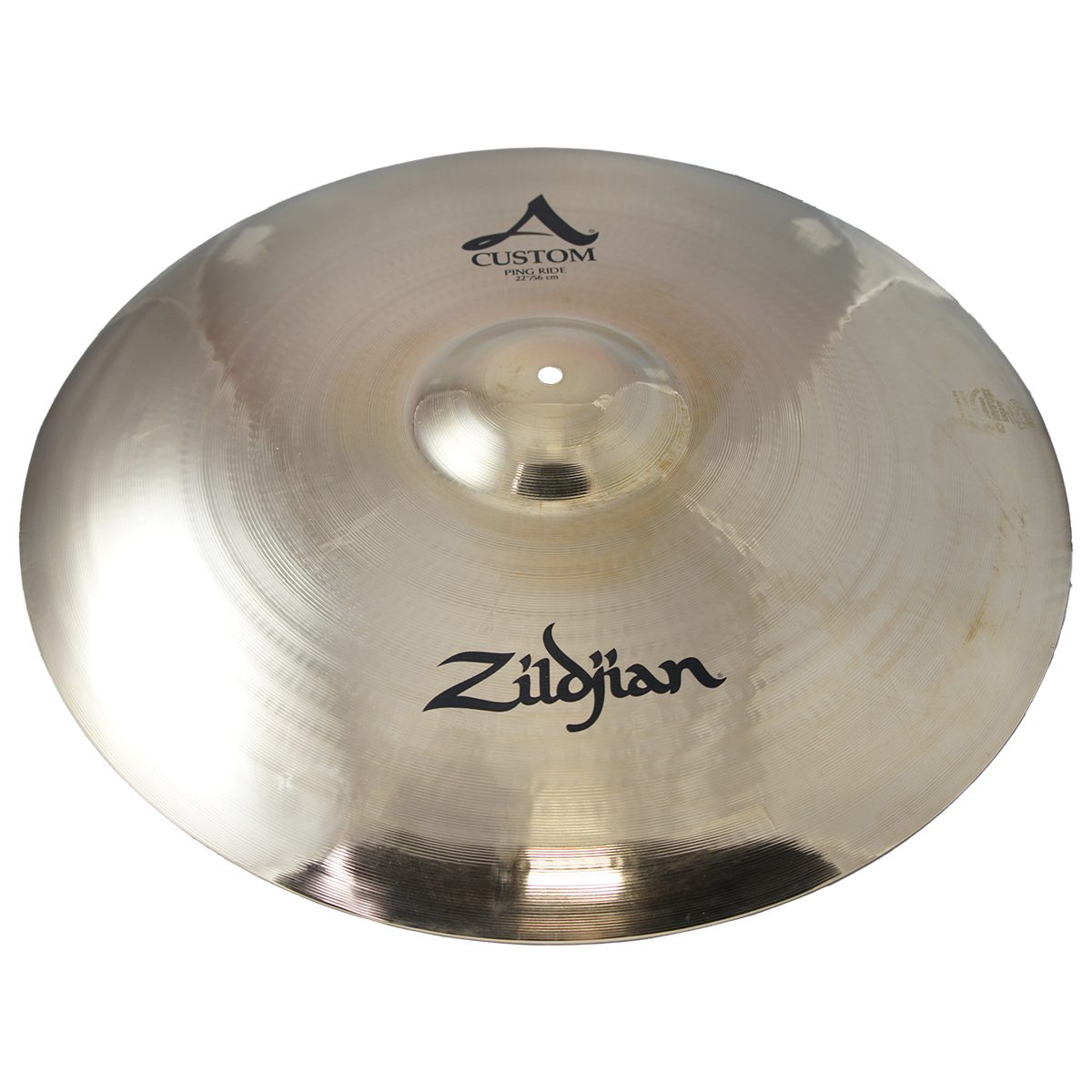 zildjian 22 a custom ping ride brilliant drumset cymbal w large bell size a20524 used. Black Bedroom Furniture Sets. Home Design Ideas