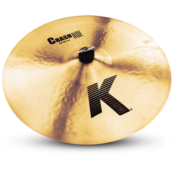 """Zildjian K0808 18"""" K Series Crash Ride Drumset Cymbal with Cast Bronze Material & Mid to Low Profile"""