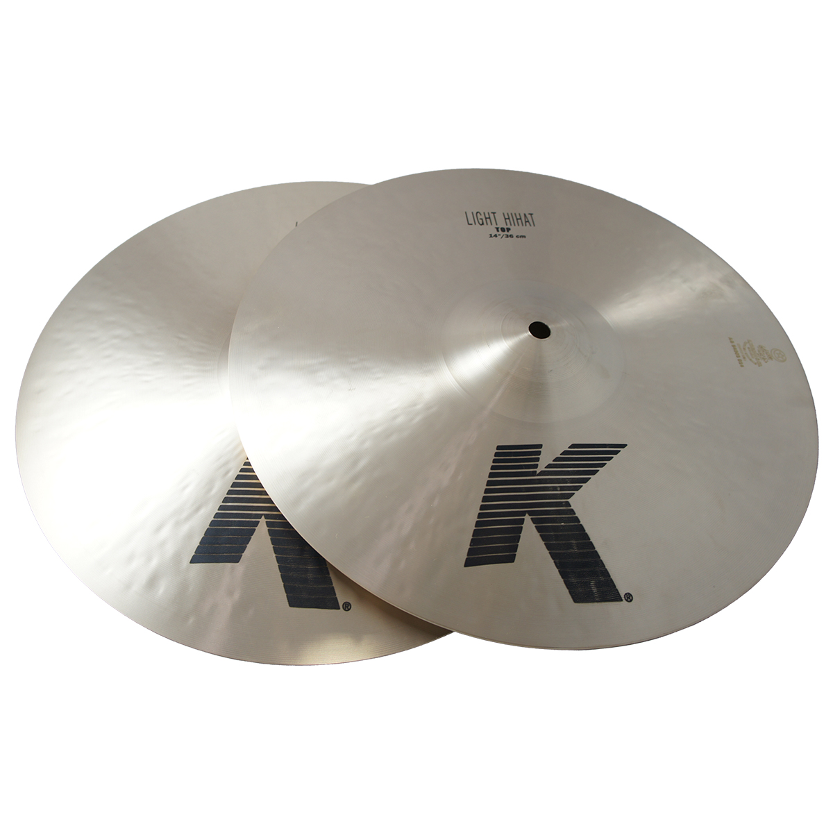 "Zildjian 14"" K Series Light HiHats in Pair Drumset Cymbals with Dark Sound & Low Pitch K0812"