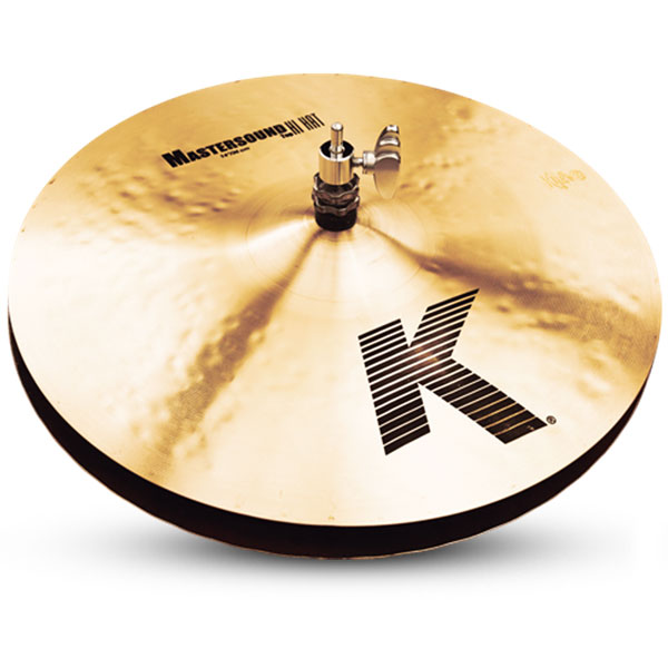 "Zildjian K0909 14"" K Zildjian Series Mastersound Hi Hat Pair Drumset Cast Bronze Cymbals with Low to Mid Pitch and Solid Chick Sound"