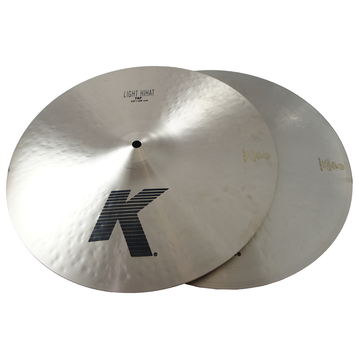 "Zildjian 15"" K Zildjian Light Hihat Pair Drumset Cast Bronze Cymbals with Low Pitch and Dark Sound K0923"