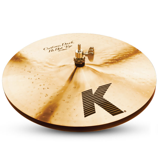 """Zildjian K0943 14"""" K Custom Series Dark Hi Hat Pair Drumset Cast Bronze Cymbals with Low to Mid Pitch and Solid Chick Sound"""
