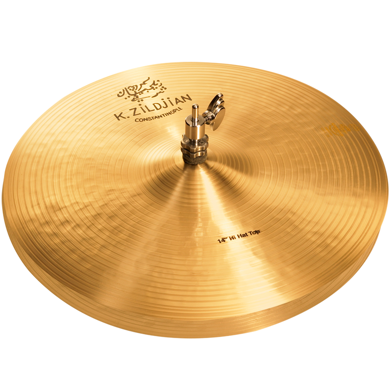 "Zildjian K1070 14"" K Zildjian Series Constantinople Hi Hat Pair Drumset Cast Bronze Cymbals with Dark/Mid Sound and Blend Balance"