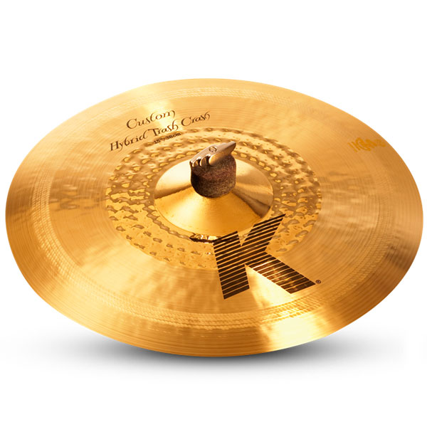 "Zildjian K1235 15"" K Custom Series Hybrid Trash Crash Thin Drumset Cast Bronze Cymbal with Bright/Mid Sound and Cut Balance"