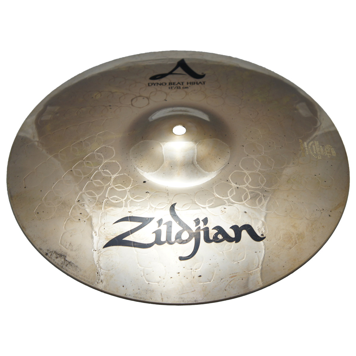 "Zildjian 13"" Z Custom Z3 Series Dyno Beat Bottom Hi Hat Extra Heavy Drumset Cast Bronze Cymbal with Bright Sound and Small Bell Size Z40131"