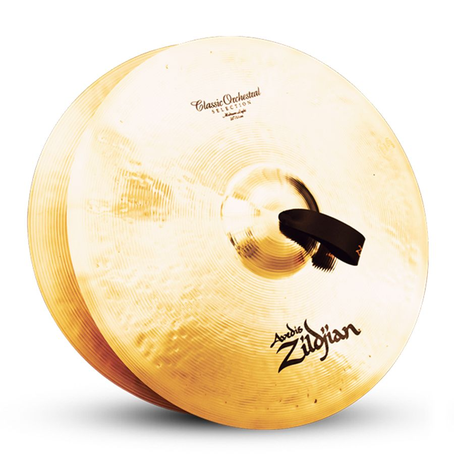 """Zildjian A0766 AZ 20"""" Classic Orchestral Selection Hand Cymbal Medium Light Single with Large Bell Size"""
