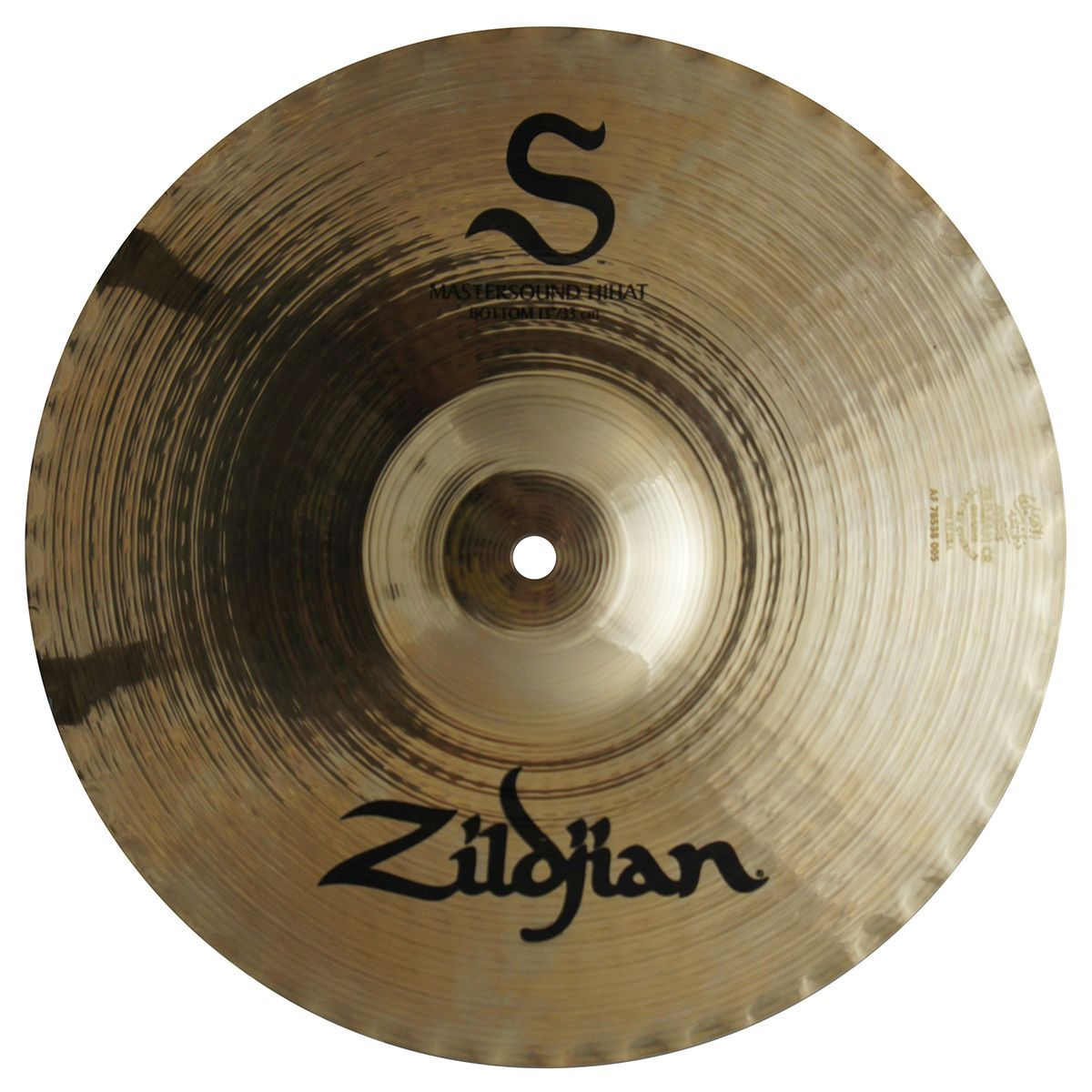 "Zildjian S13MB 13"" S Family Mastersound Hi-Hat Cymbal Bottom w/ Balanced Frequency Response - Brilliant Finish"