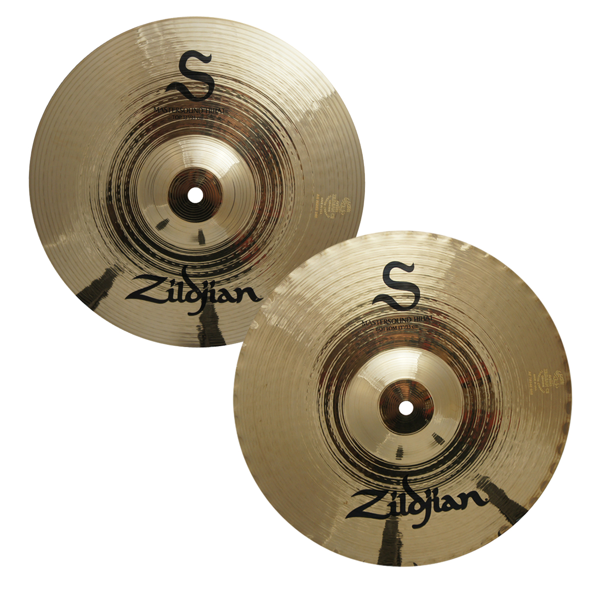 "Zildjian S13MPR 13"" S Family Mastersound Hi-Hat Cymbal Pair w/ Balanced Frequency Response - Brilliant Finish"