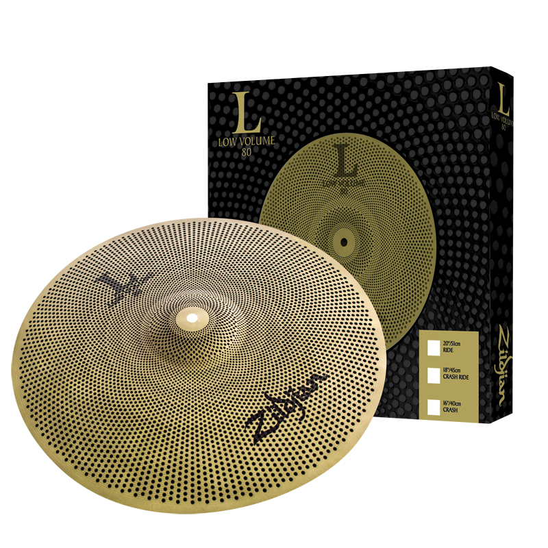"Zildjian LV8020R-S Low Volume L80 Practice 20"" Ride Cymbal - Brand New!"