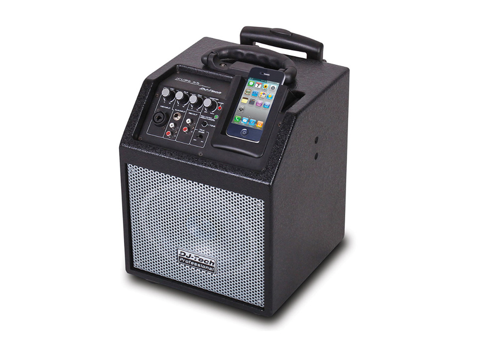 DJ Tech iCube 55 Wireless PA System for iPod/iPhone 50 Watts Max