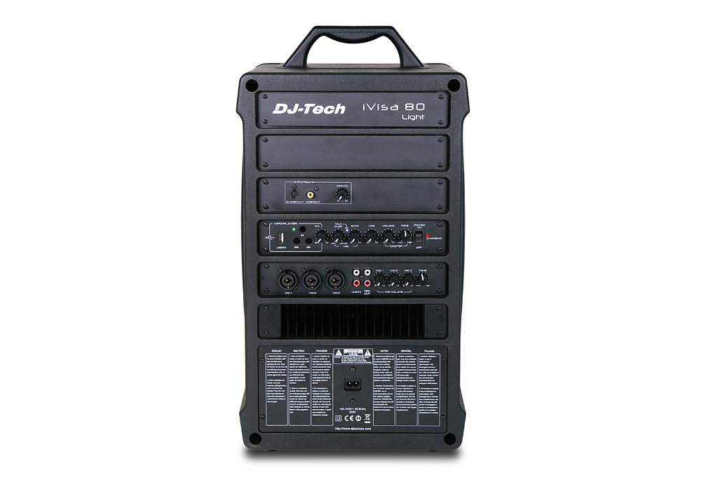 DJ Tech iVisa 80 Light Portable PA System without CD player