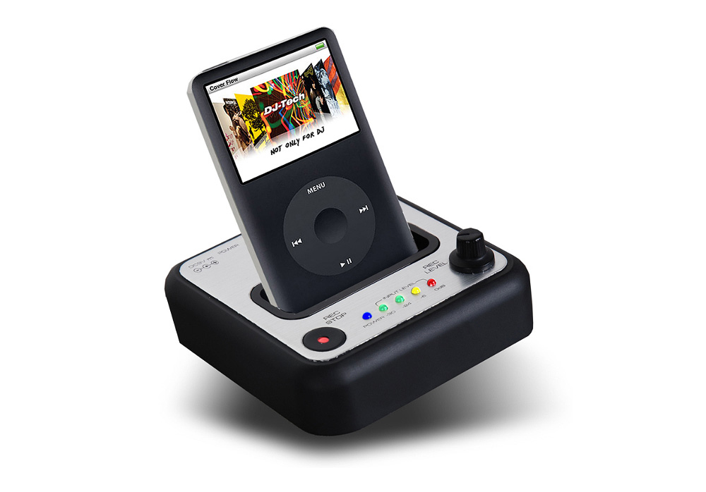 DJ Tech REC-iN iPod Dock Recorder - iPod Direct Encoding in a snap