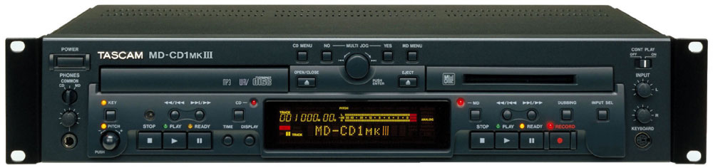Tascam Pro Audio MD-CD1MKIII Combination MiniDisc Recorder / CD Player (MDCD1MKIII)