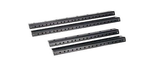 odyssey cases arr16 16u pair of accessory pre-tapped rails