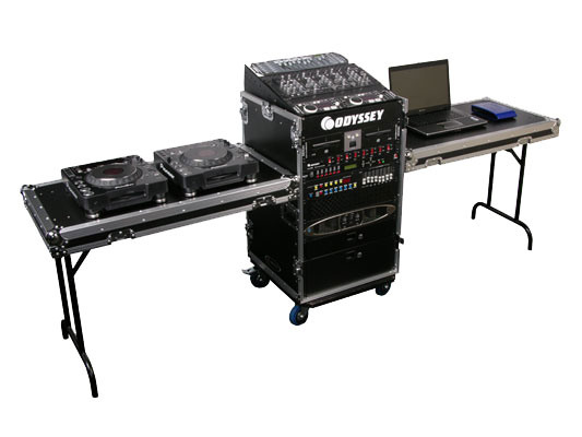 Odyssey Cases Fz1116wdlx Ii Ata Combo Rack Dj Pro Audio Case With 16u Vertical Es 11u Slant