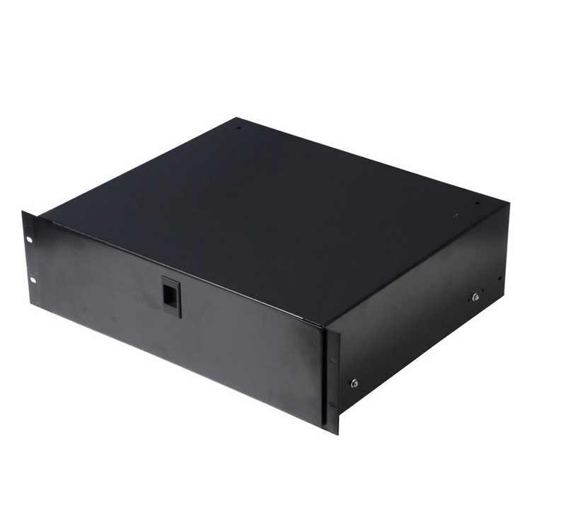 Gator Cases GE-DRAWER-4UDFM Rack Drawer 14.2 Inches Deep Lockable w/ Diced Foam Interior 4U