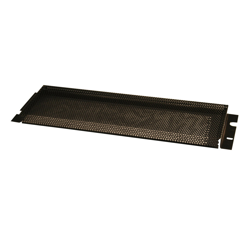 Gator Cases GE-PNLSECFIX-4U 4U Fixed Security Cover Non-PVC Rubber Edging 5/32 Inch Holes & 1 Inch Space Between Panel & Gear