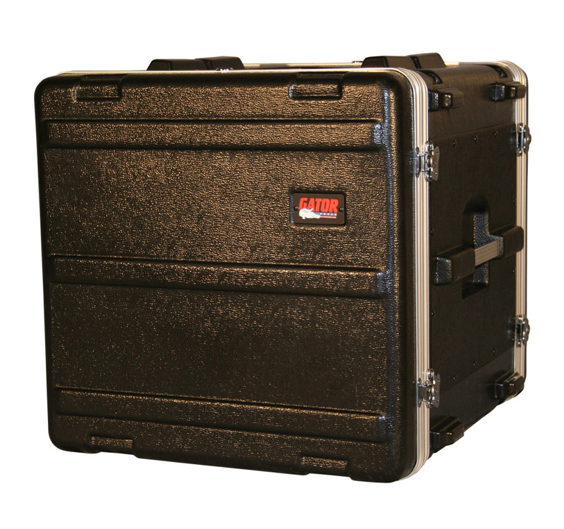"Gator Cases GR-10L 10U Audio Rack Case - Standard Molded PE 19"" Deep & Locking"