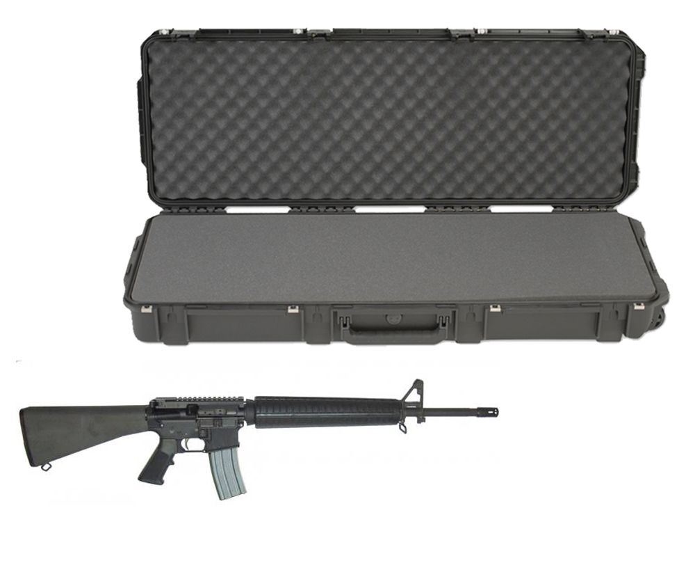 "SKB 3I-4214-5B-L Waterproof Plastic 42.5"" Case for High Standard AR-15 Style Semi-Auto Carbine Rife"