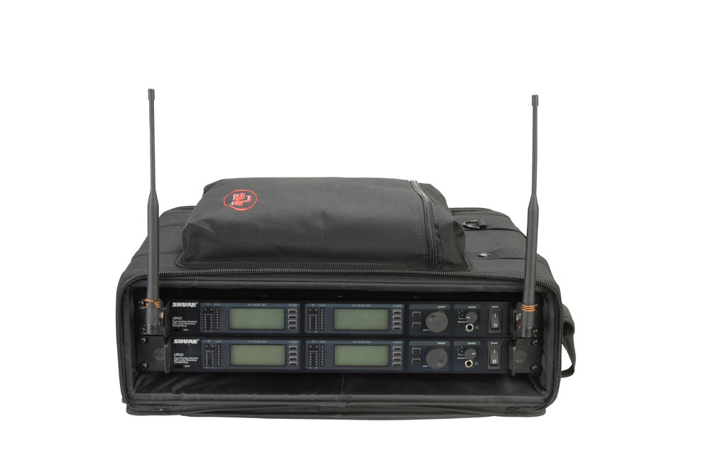 SKB Cases 1SKB-SC192U 2U Soft Rack Case for Wireless Microphone Systems w/ Shoulder Straps (1SKBSC192U)
