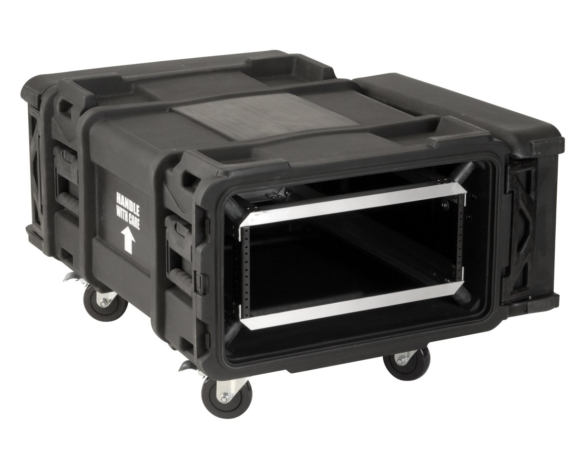 "SKB Cases 3SKB-R904U28 4U 28"" Deep Industrial Shock Rack Case fits Dell & Compaq Servers with Casters (3SKBR904U28)"