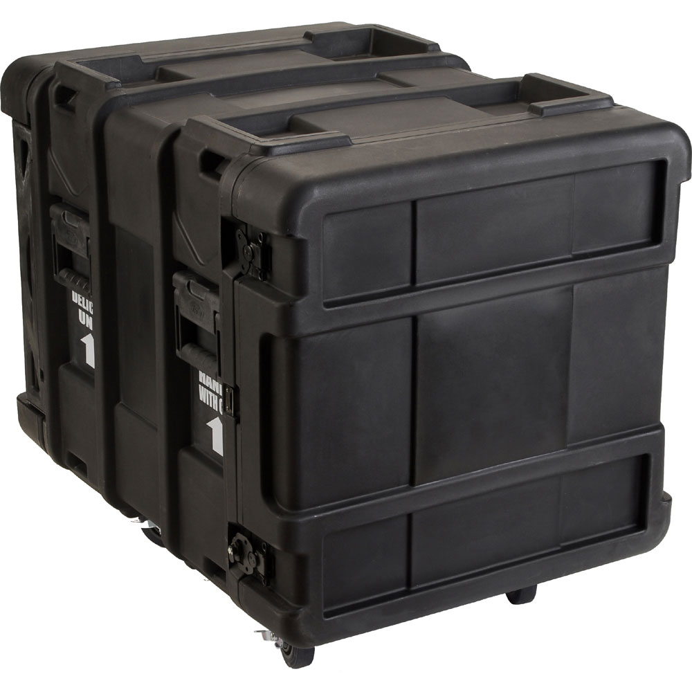 "SKB Cases 3SKB-R910U24 10U Roto 24"" Deep Industrial Shock Mount Rack Case w/ Rails & Casters (3SKBR910U24)"