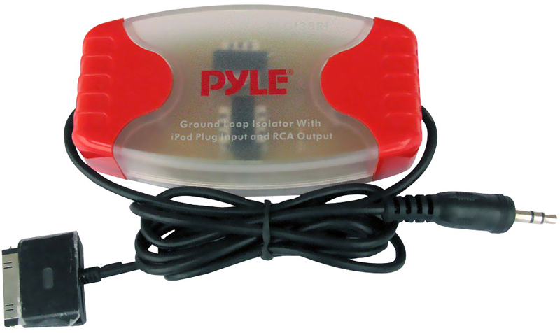 Pyle Car Audio PLGI37I iPod Direct To 3.5mm / 1/8' Stereo Audio Ground Loop Isolator