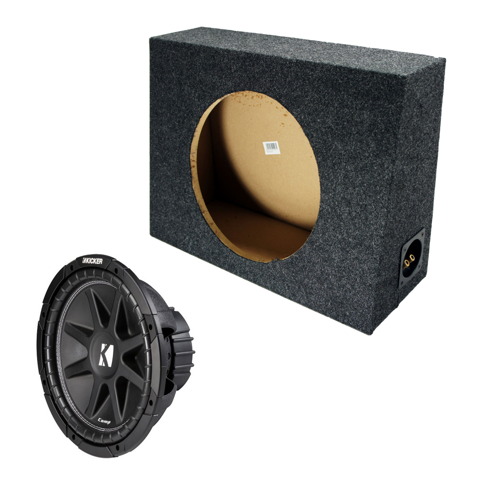 "Kicker 12"" Loaded Truck Sub Box 4 Ohm (10C12-4)"