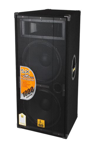 "DJ Tech SX-215v2 Dual 15"" 3-Way 1000W Professional Dj Vented Speaker System"
