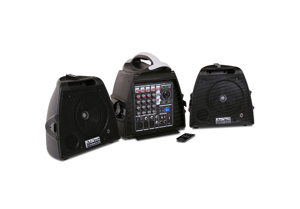 DJ Tech Stage Visa 200 Light 140 watts Portable PA System w/ MP3 Player Built-in