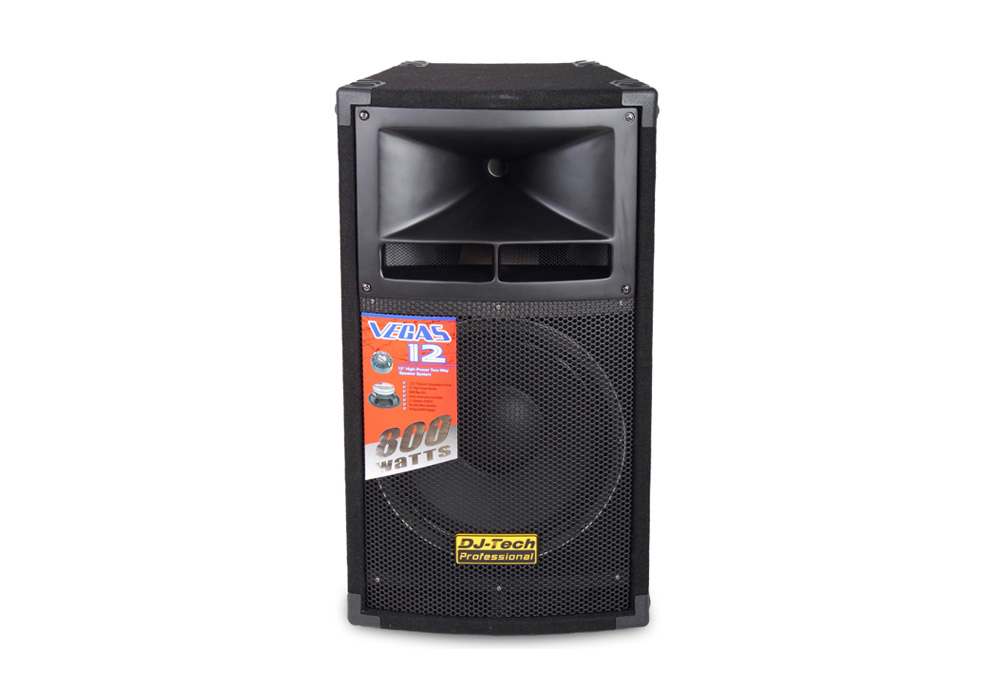 "DJ Tech Vegas 12 Single 800W 12"" High-Power 2-Way Speaker System with Titanium Driver"