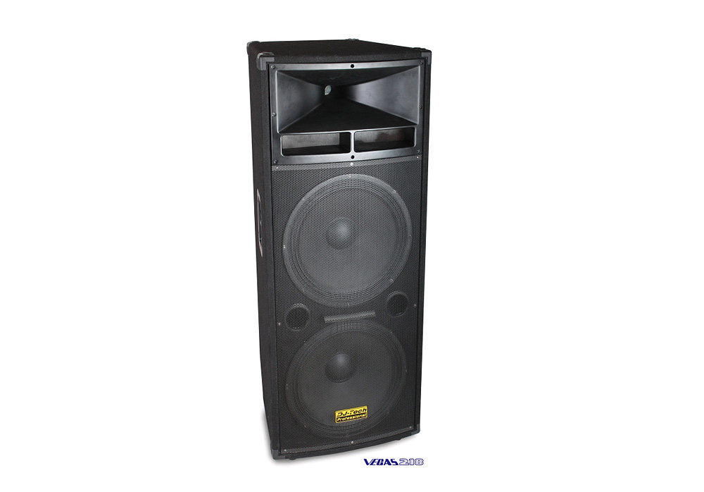 "DJ Tech Vegas 218 Dual 18"" three-way Professional Speaker System heavy duty"