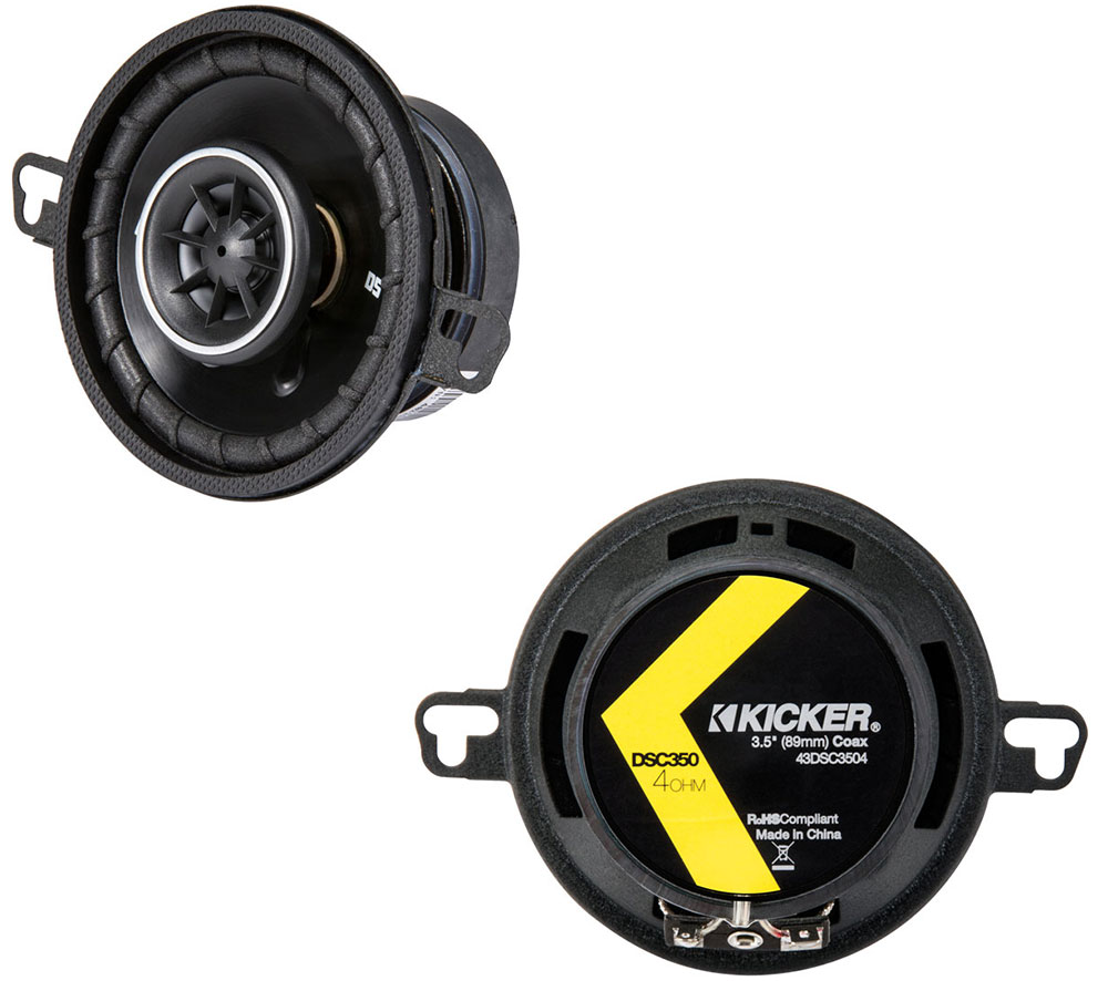 "Kicker 43DSC3504 3.5"" DS Series 15W RMS 4 Ohm Coaxial Car Audio Speakers DSC35"