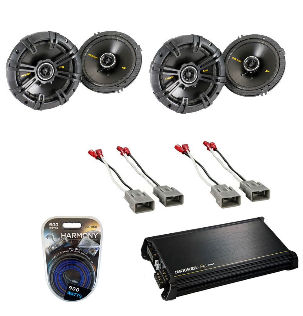 Honda Cr V 1997 2008 Kicker Factory 6 1 2 Coaxial Speaker 2003 Acura Cl Wiring Replacement Cs654 Package With Dx4004 Amp