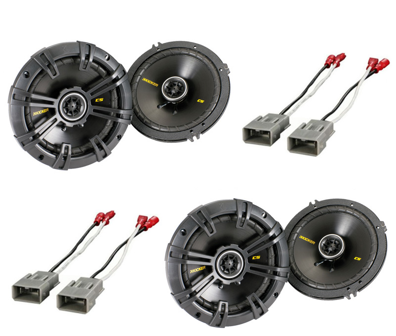 """Honda CR-V 1997-2008 Kicker Factory 6 1/2"""" Coaxial Speaker Replacement (2) CS654 Package New"""