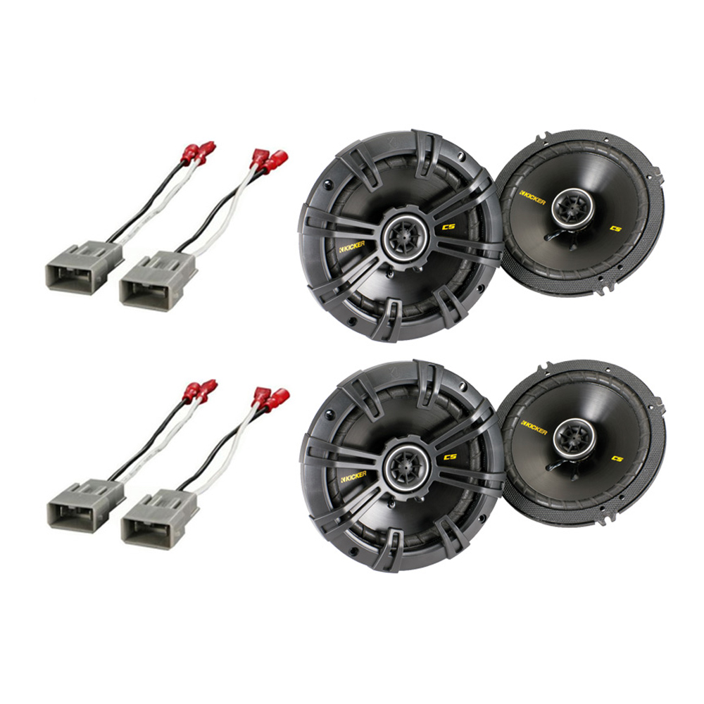 """Honda Insight 2001-2006 Kicker Factory 6 1/2"""" Coaxial Speaker Replacement (2) CS654 Package New"""