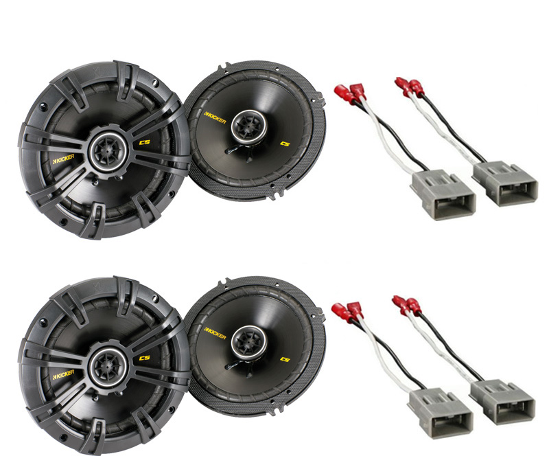 "Honda Pilot 2003-2008 Kicker Factory 6 1/2"" Coaxial Speaker Replacement (2) CS654 Package New"
